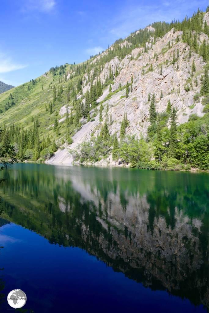 """""""Reflection"""" – Lower Kolsai Lake."""