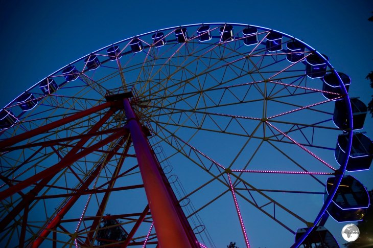 The Ferris wheel is one of many affordable amusements at Panfilov park in downtown Bishkek.