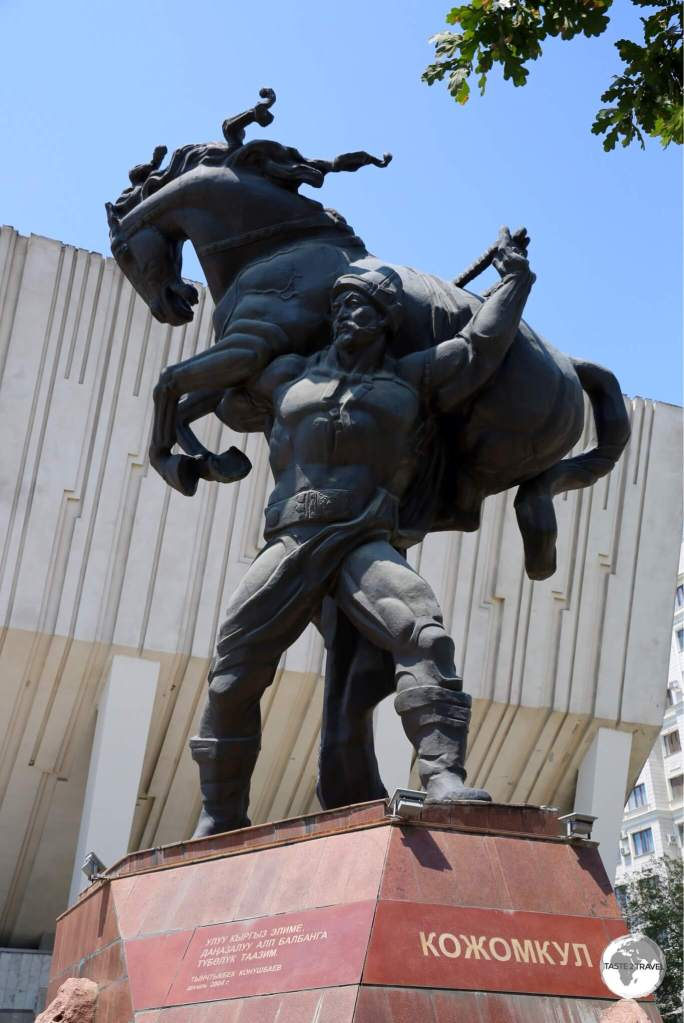 The Statue of Kozhomkul which graces the foyer of the Sports Palace which is named after the strong man.