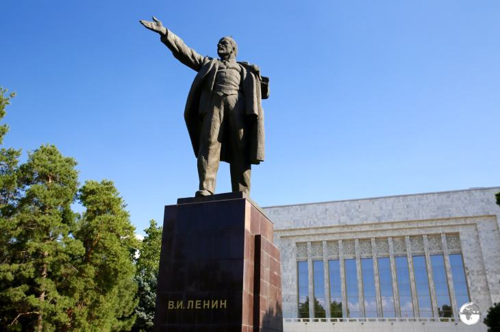 Lenin in Bishkek's Ala Too square.