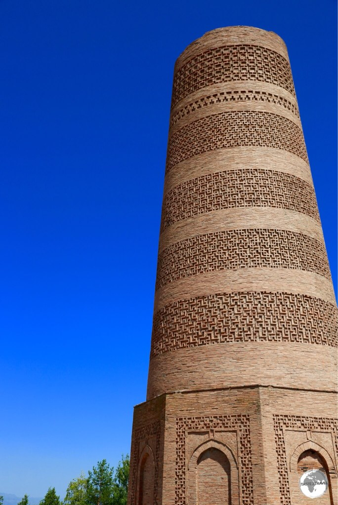 Burana Tower, a 24 metre-high brick minaret which dates from the 11th-century.