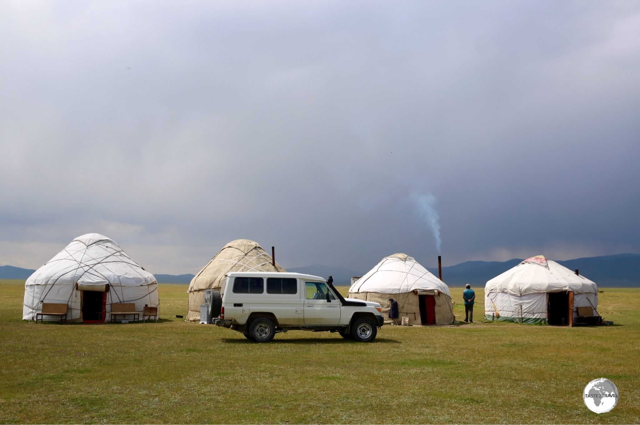 With a rental car, the whole country is accessible, including the remote yurt camps at lake Son-Kul where parking is never a problem.