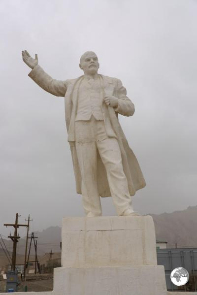 The Lenin statue in Murgab.