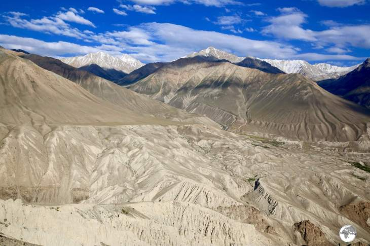 Spectacular views across the Wakhan valley into Afghanistan, which is dominated by the dramatic Hindu Kush mountain range,