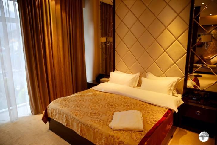 My opulent room at the Karon Palace in Kulai Khumb.
