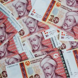 Brand new 10 somoni notes, which feature Mir Said Ali Hamadoni (1314-1384), a Tajik thinker and poet.