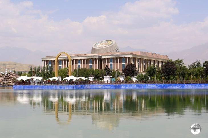 The National Museum of Tajikistan, as seen from the flagpole.