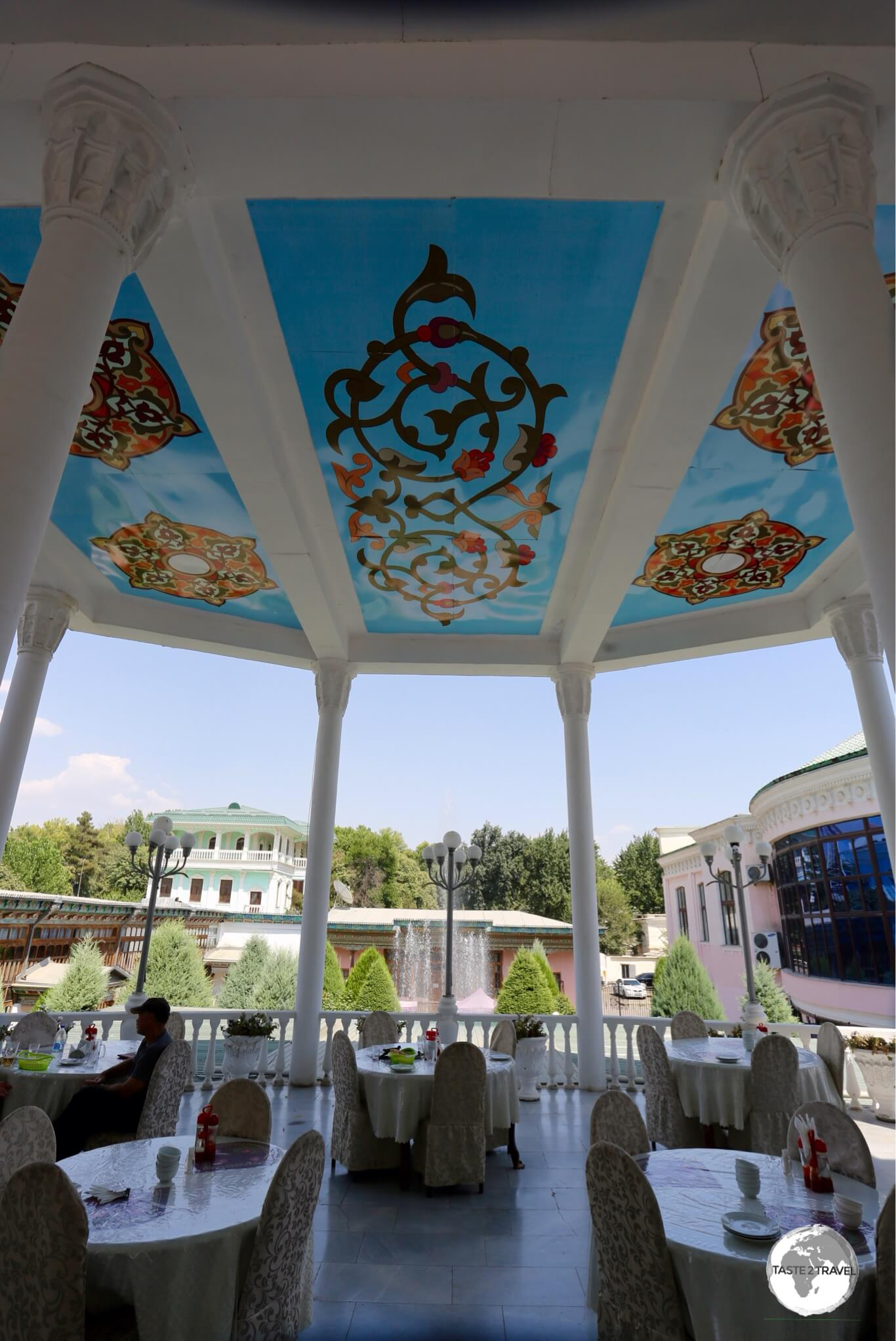 The Rohat tea-house in Dushanbe.