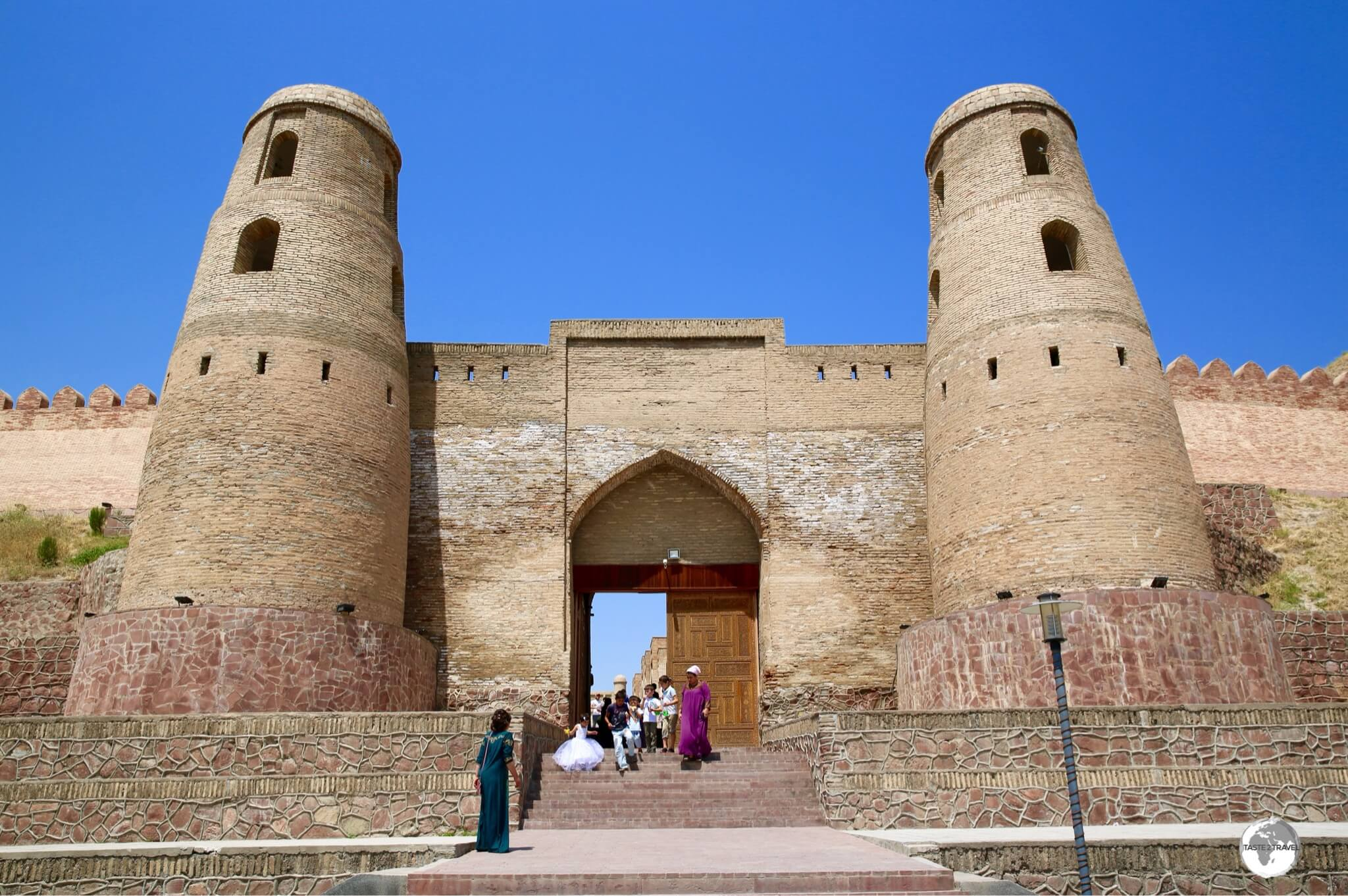 The main entrance to the Hissar fortress which lies on the outskirts of Dushanbe.