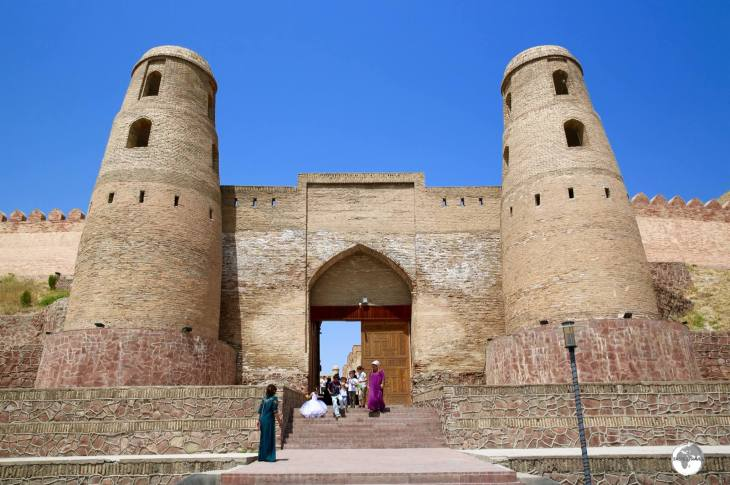 The main entrance to the Hissar fortress, which lies on the outskirts of Dushanbe.