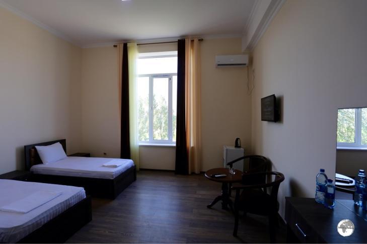 My spacious room at the Hotel Rudaki in Panjakent.
