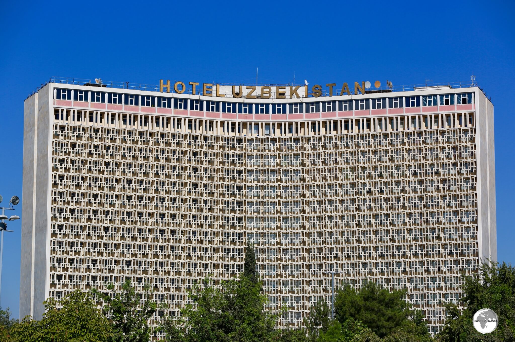 During Soviet times, each capital had its own behemoth hotel which was named after the republic. The Hotel Uzbekistan once served as the main hotel in Tashkent for visitors travelling with In-tourist.