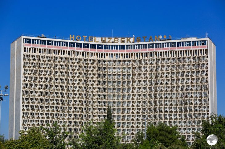 During Soviet times, each capital had its own behemoth hotel which was named after the republic. The Hotel Uzbekistan once served as the main hotel in Tashkent for visitors travelling with Intourist.