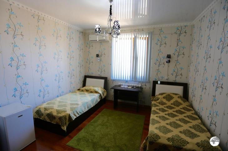 My room at the Hotel EuroAsia in Khiva.