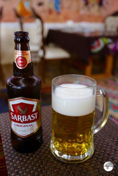 Sarbast is the local brew of choice, an easy-on-the palette lager beer.