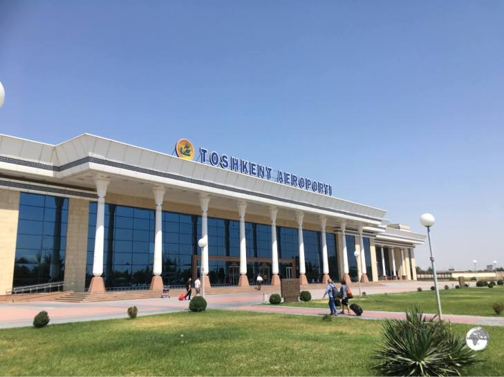 The domestic terminal at Tashkent airport.