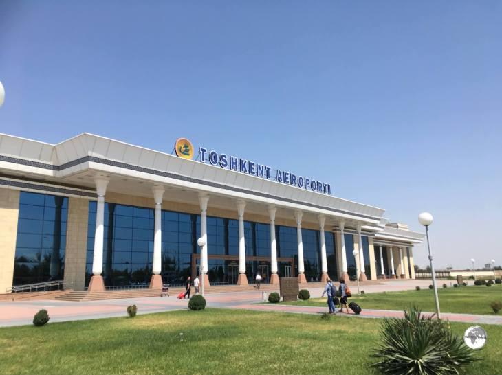 The domestic terminal at Tashkent airport.