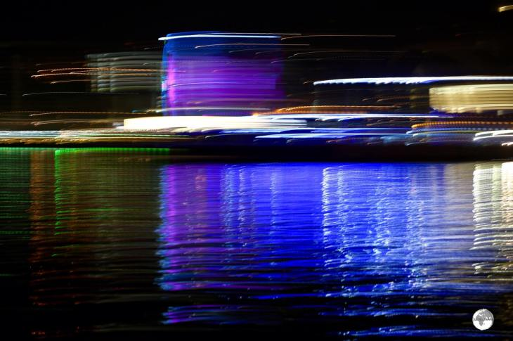 The lights of Baku Bay - on a slow exposure!