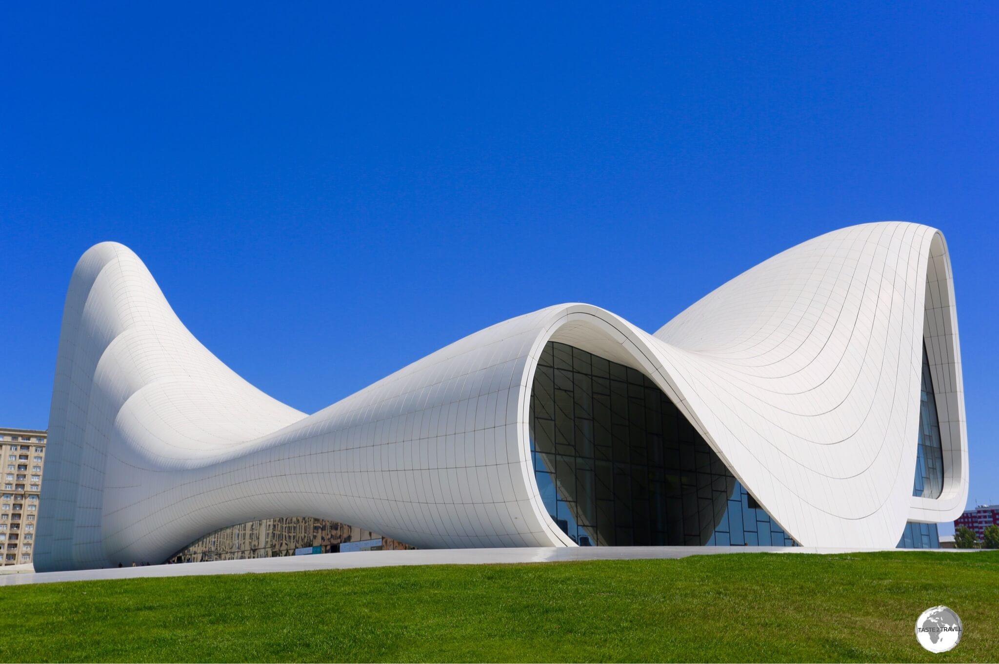 Very photogenic! The Heydar Aliyev Centre in Baku.
