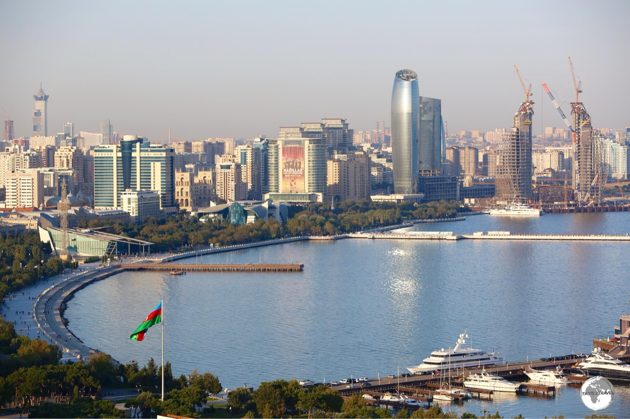 A view of bustling Baku, the capital of Azerbaijan.