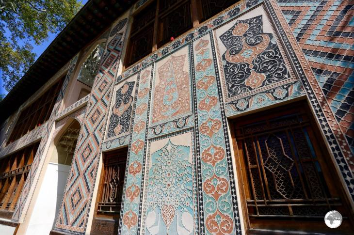 The exterior of the Palace of the Sheki Khans - photos are not allowed inside.