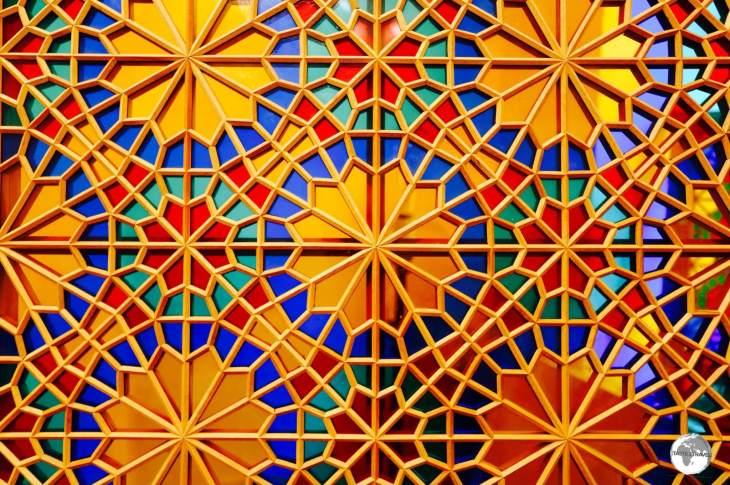 Shebeki Window Pane, Sheki, Azerbaijan.