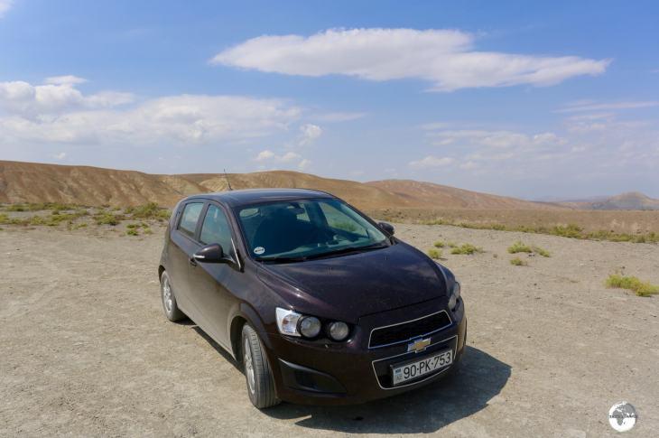 Azerbaijan Travel Guide: Off-roading in my rental car in Azerbaijan.
