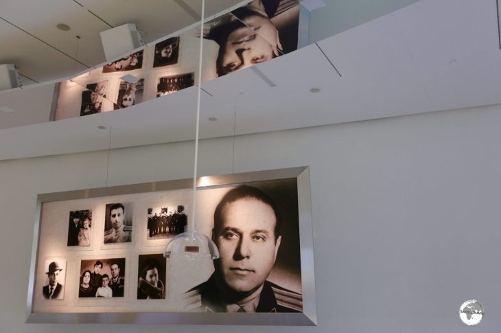 An exhibition at the Heydar Aliyev Centre details the life of the former President.