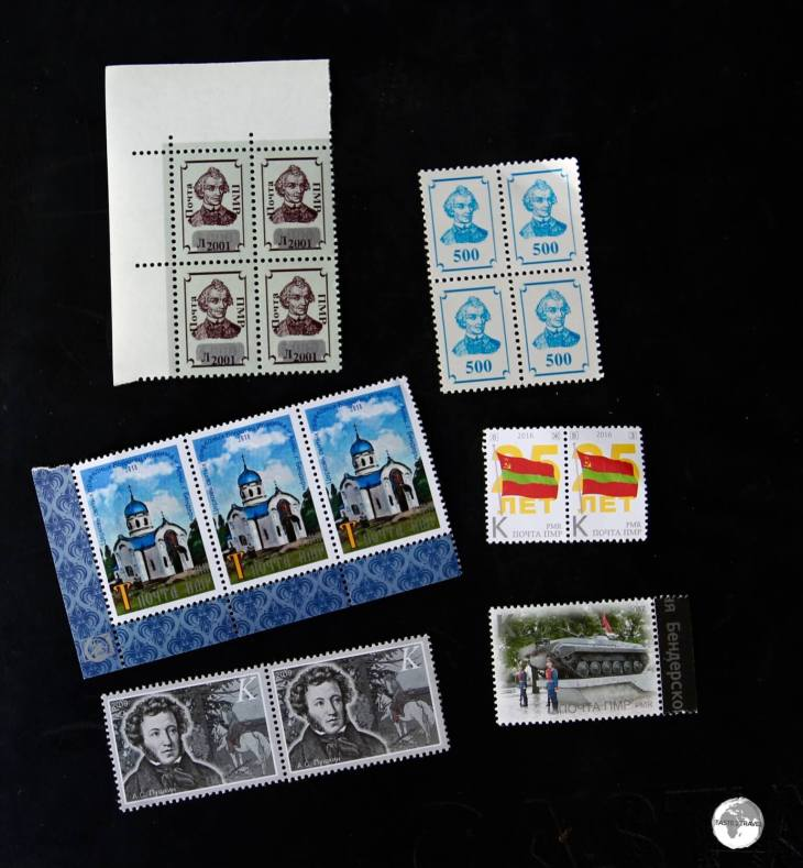 This small collection of Transnistrian stamps cost me US$3 from Tiraspol Post Office.
