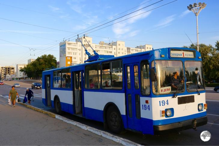 Soviet-era buses connect to most points in Tiraspol and Bender.