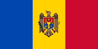 Flag of Moldova.