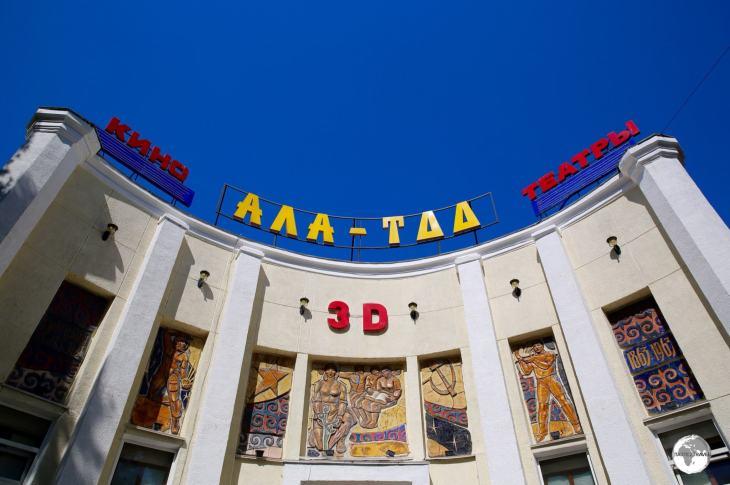 The beautifully iconic Ala-Too cinema in downtown Bishkek.