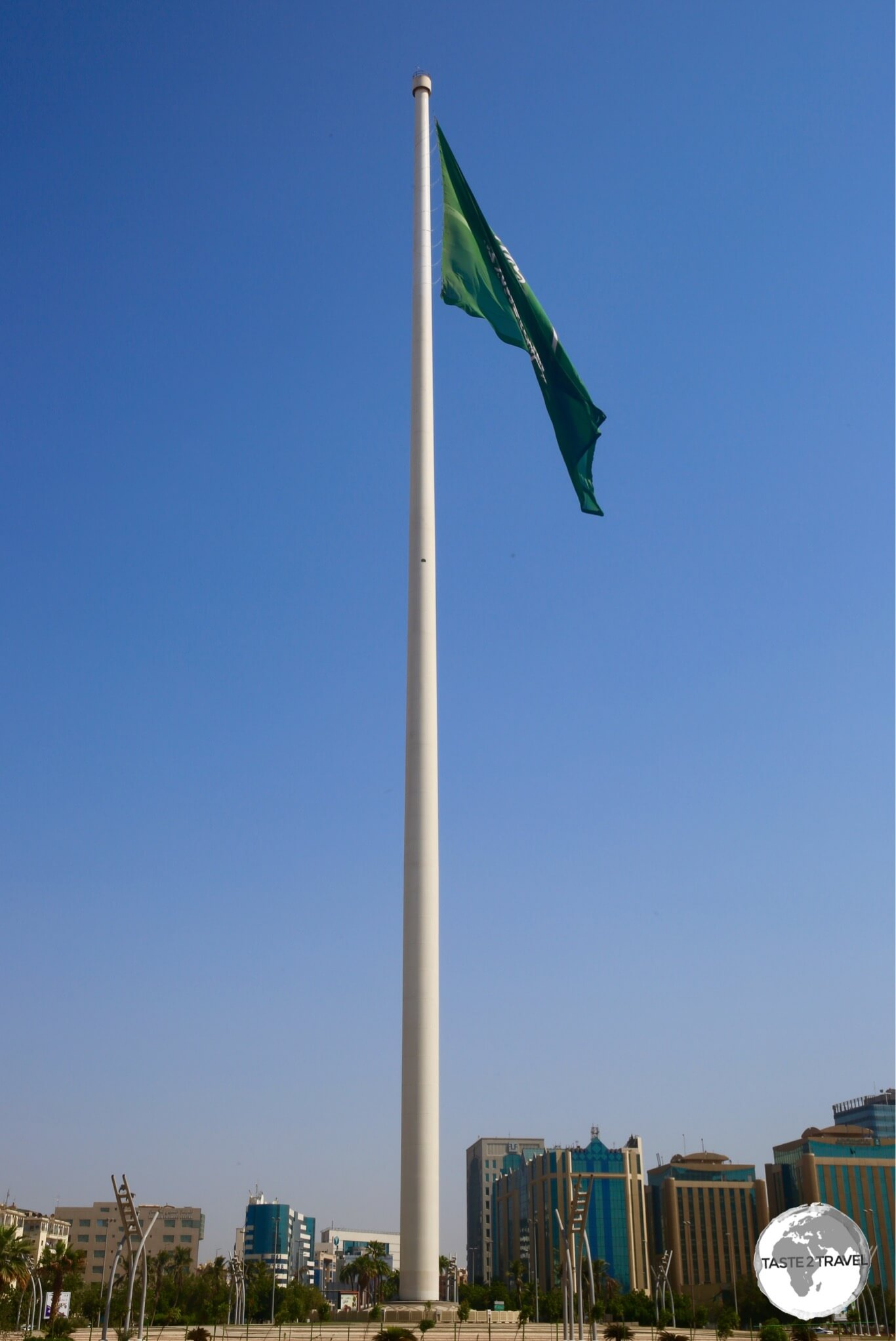At 170-metres high, the Jeddah flagpole is the tallest in the world.