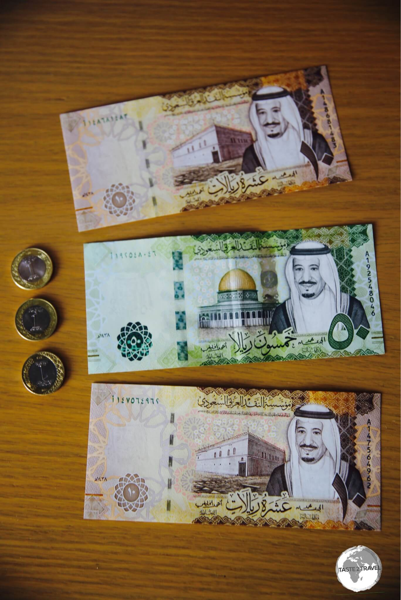 The latest series of the riyal note features the portrait of King Salman bin Abdulaziz Al Saud.