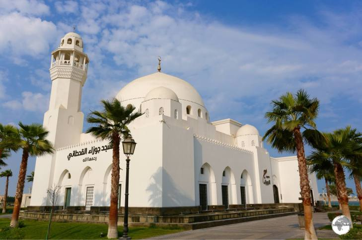 One of two mosque which can be seen on the Corniche in Al Khobar.