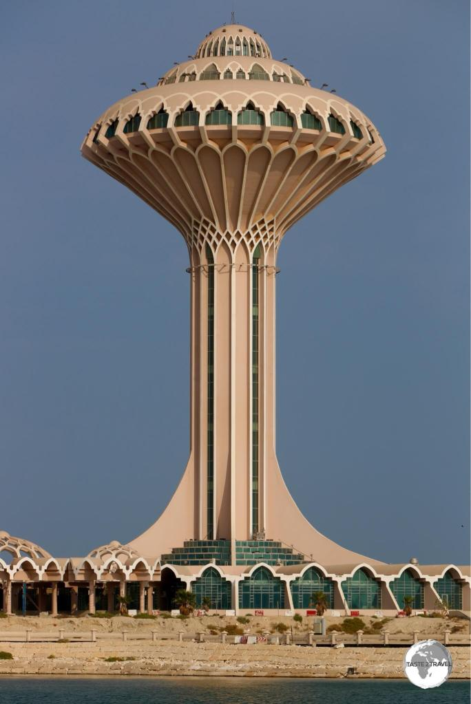 The iconic Khobar Water tower stands sentinel over the Corniche.