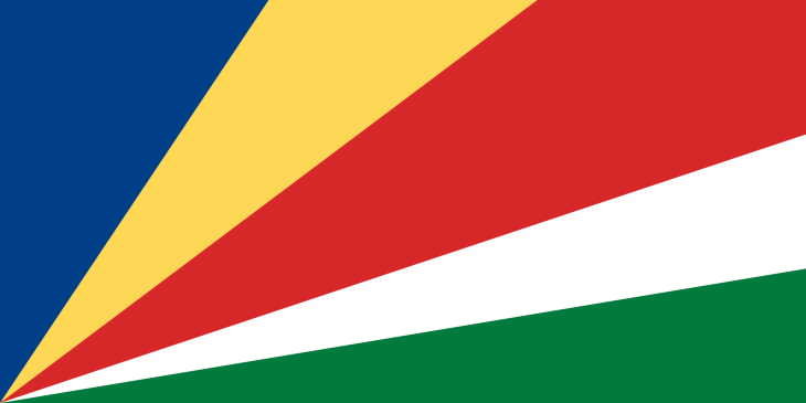 The flag of the Seychelles.