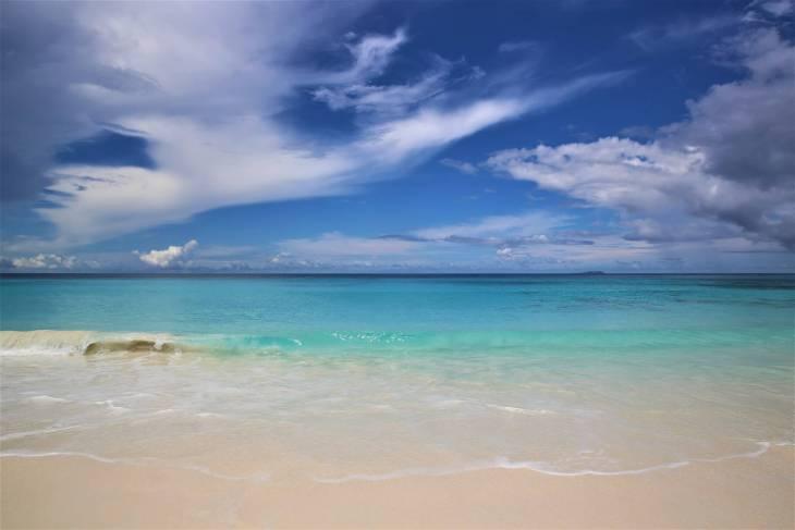 The dazzlingly beautiful – Grand Anse beach.