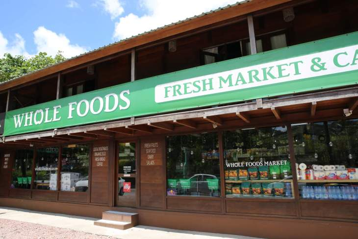 Whole Foods in the Seychelles? This is not the US supermarket chain but an excellent convenience store and café on Praslin.