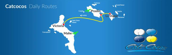 The Cat Cocos ferry route map. Source: catcocos.com