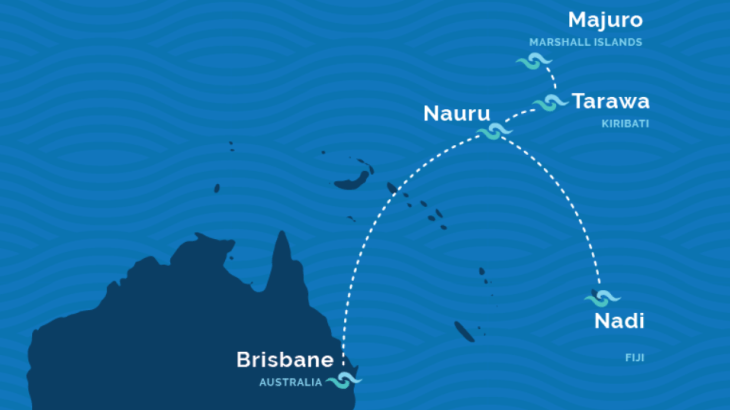 Nauru Airlines route map, Source: Nauru Airlines