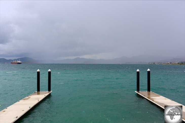 Storm over Port Moresby Harbour.