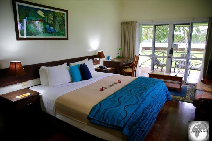 My charming room at the wonderful Madang Resort.