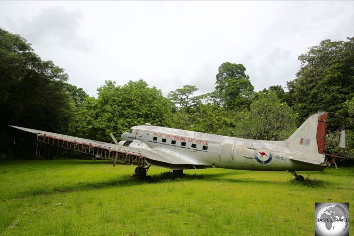 This abandoned RAAF (Royal Australian Air Force) C47 WWII-era plane is slowly decaying inside the Lae Botanical Garden.
