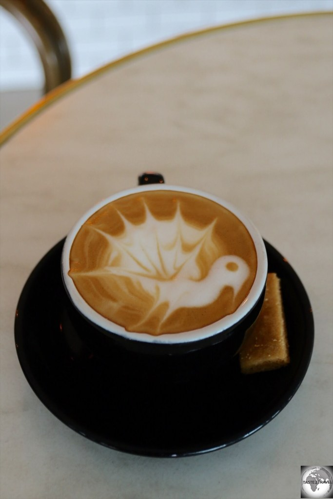 While the latte artwork is impressive at Duffy café, the amazingly rich and syrupy PNG coffee stands on its own.