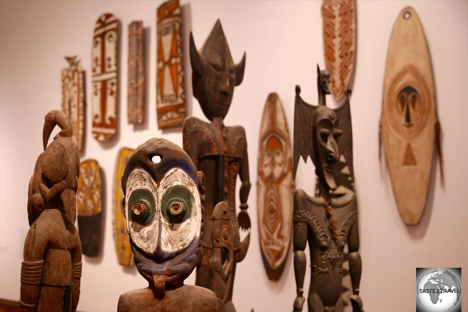 The displays at NMAG highlight the diverse culture of the 750 tribes of PNG.