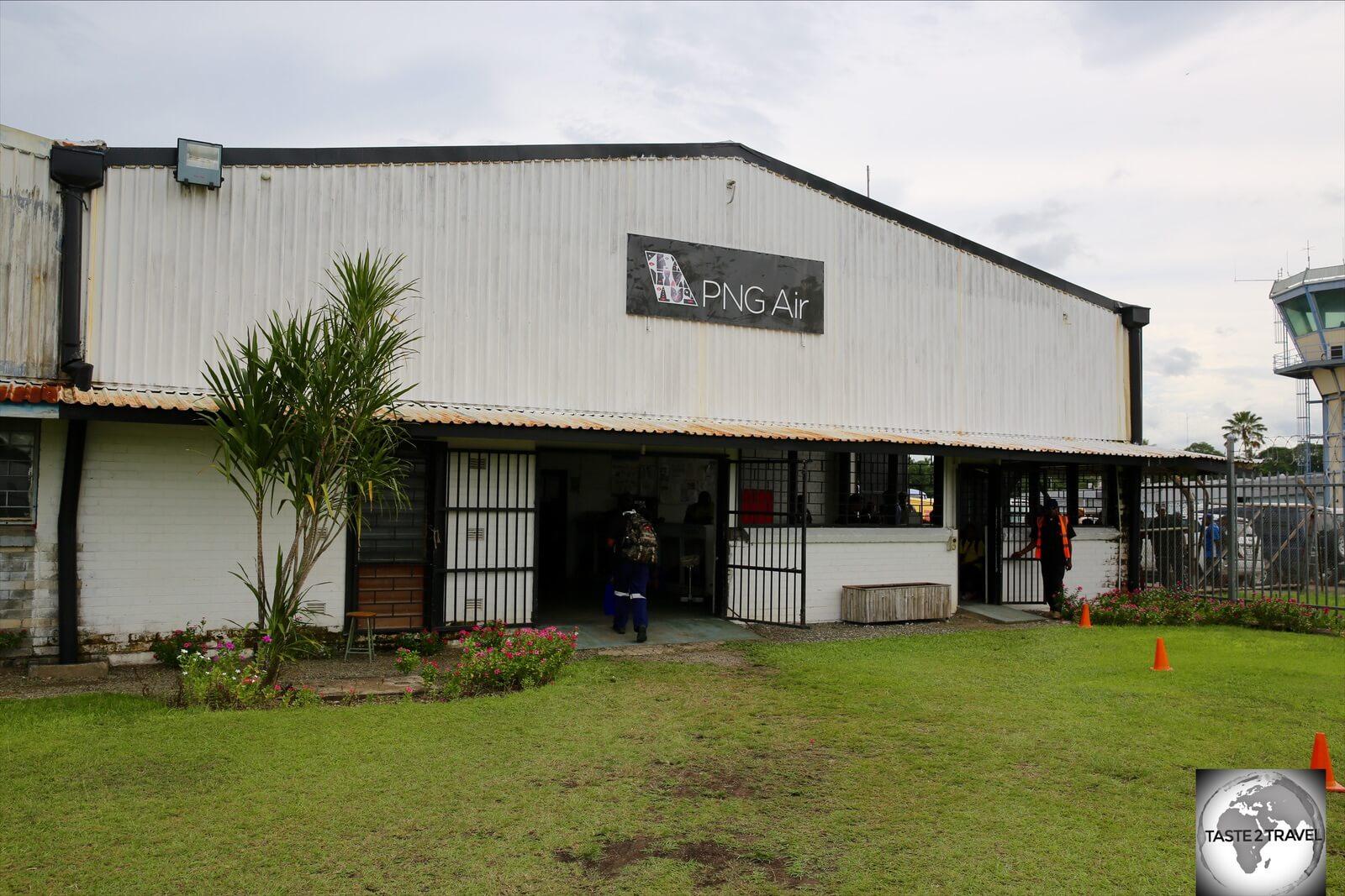 The PNG Air terminal at Madang airport.