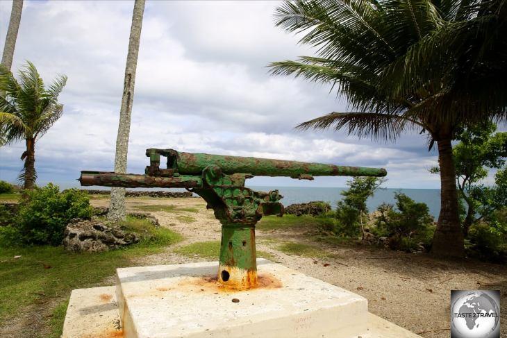 The namesake of Machine Gun beach – the Japanese WWII-era Machine Gun.