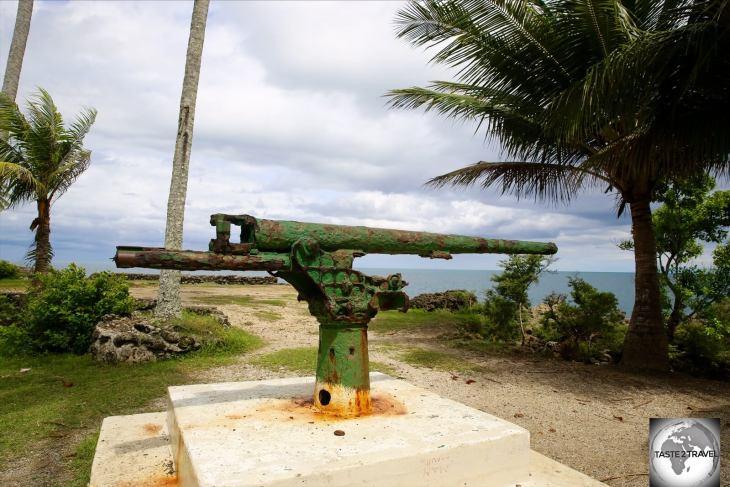 The namesake of Machine Gun beach - the Japanese WWII Machine Gun.