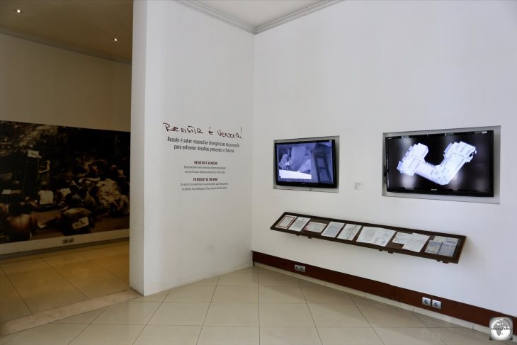 The lobby of the Timorese Resistance Archive and Museum.